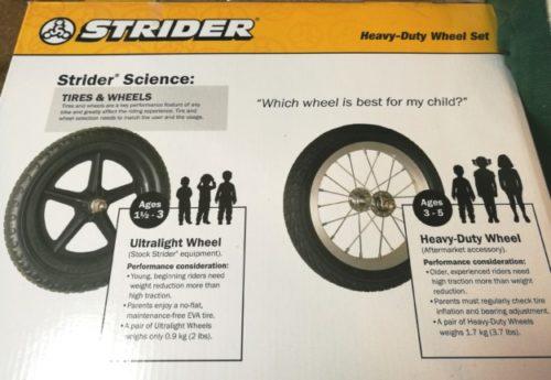 ストライダーのおすすめタイヤ交換年齢についての画像
